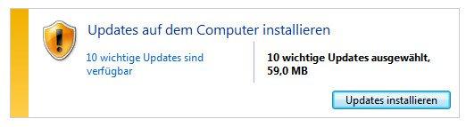 Aktiviert grundsätzlich die automatischen Updates für Windows 7, damit euer PC stets auf dem neusten Stand bleibt