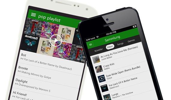 Xbox Music für iOS und Android: Streaming-App ohne Werbung