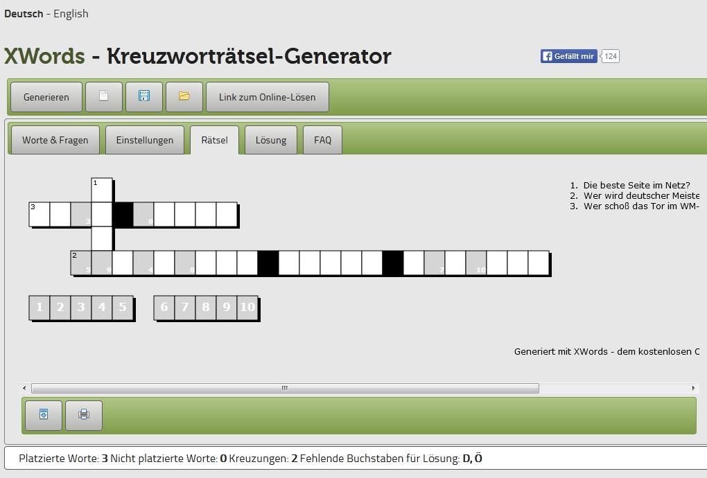 Kreuzworträtsel Erstellen Freeware