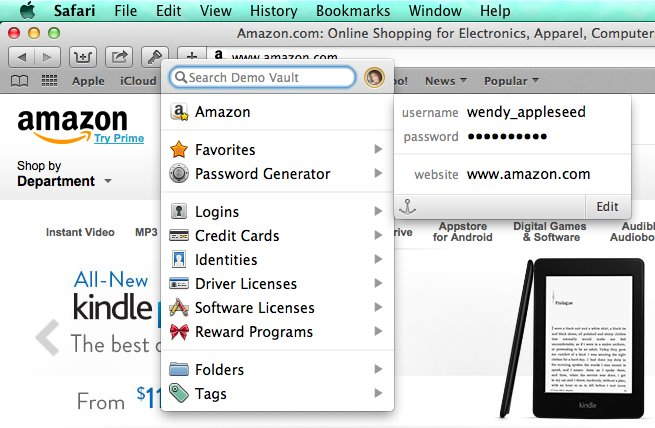 1Password 4 - Browser Add-ons