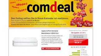 Apple AirPort Extreme Basisstation für 99,90 Euro bei Comtech