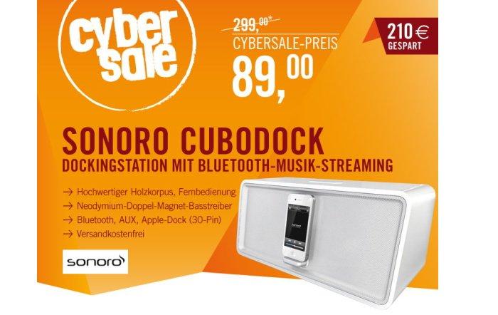 sonoro cuboDock-Dockingstation für 89,00 Euro bei Cyperport
