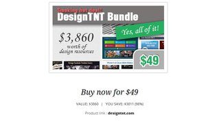Design TNT Mega Bundle bei Webmaster Deals für ca. 36 Euro