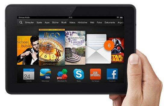Screenshot mit dem Kindle Fire HD und Paperwhite erstellen