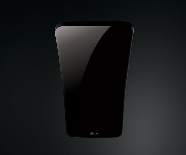 LG G Flex: Gebogenes Smartphone zeigt sich von seiner Bananenseite