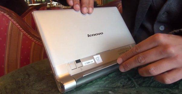 Lenovo Yoga Tablet 10: Hands-On mit den verrenkbaren Design-Tablet
