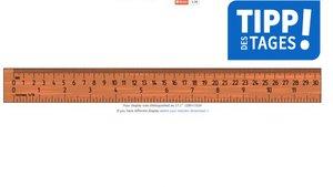 Lineal online: Am Bildschirm maßstabsgetreu messen