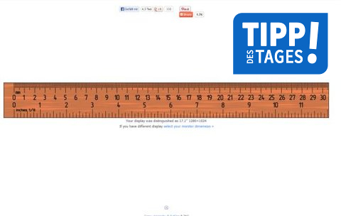 Lineal online: Am Bildschirm maßstabsgetreu messen – GIGA