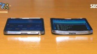 Samsung Galaxy Round & Samsung Galaxy Note 3 im Vergleich (Video)