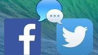 OS X Mavericks: Facebook, twitter und andere Netzwerke integrieren