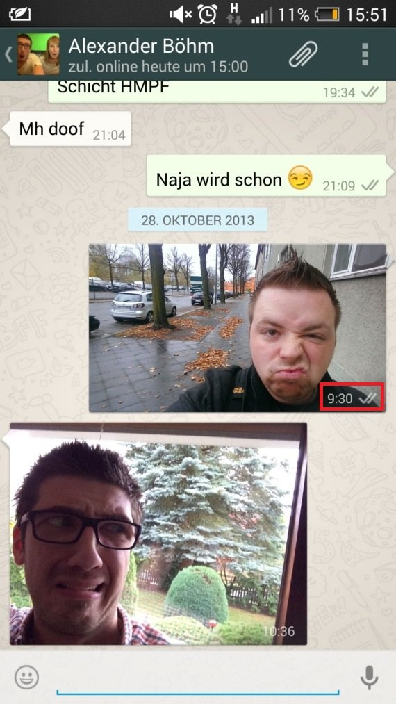 WhatsApp Haken