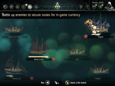 Assassin's Creed 4: Companion-App für Android- und iOS-Tablets