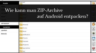 ZIP Dateien auf Android entpacken und erstellen