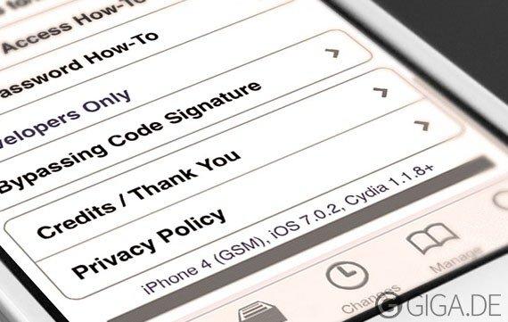 iOS 7.0.2 gejailbreakt, Cydia erfolgreich portiert