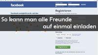 Facebook: Alle Freunde einladen - Party Hard