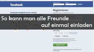 Facebook: Alle Freunde einladen - Party Hard