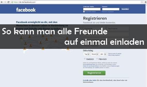 facebook: alle freunde einladen – party hard – giga, Einladung
