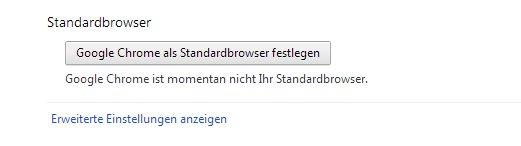 google chrome standard browser