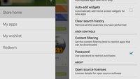Play Store: Version 4.4 der Android-App mit seitlicher Navigationsleiste gesichtet