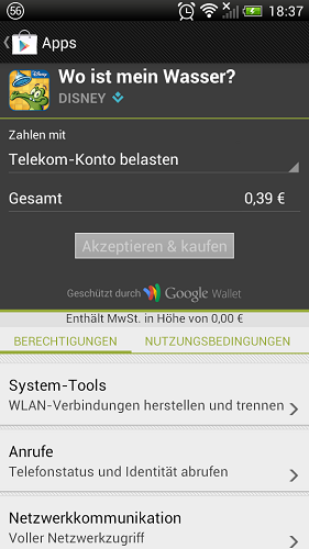 Zahlung Google Play
