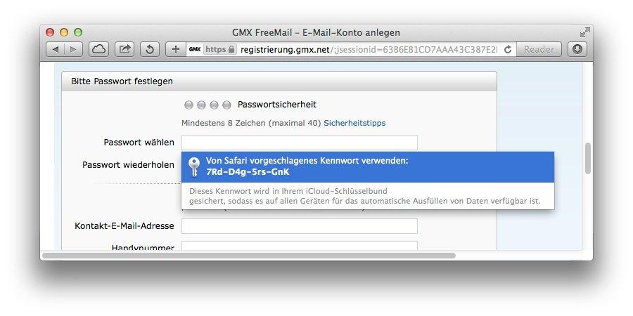 iCloud-Schlusselbund-Passwort-Generator