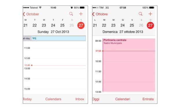 iOS 7: Kalender-Bug nach Zeitumstellung
