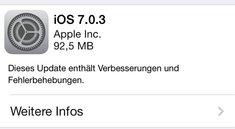 Apple veröffentlicht iOS 7.0.3: iCloud Keychain, iMessage- und Sensor-Bugfixes, Touch ID Verbesserungen