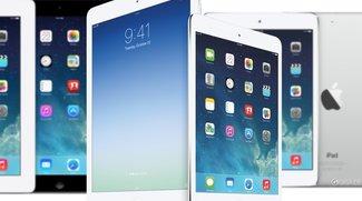 Vergleich: iPad Air vs. iPad mini Retina vs. iPad 4 und mehr