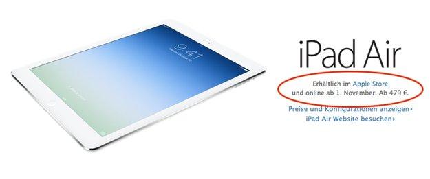 iPad Air: Genügend Exemplare auf Lager - Retina-iPad-mini-Verkaufsstart am 21. November?