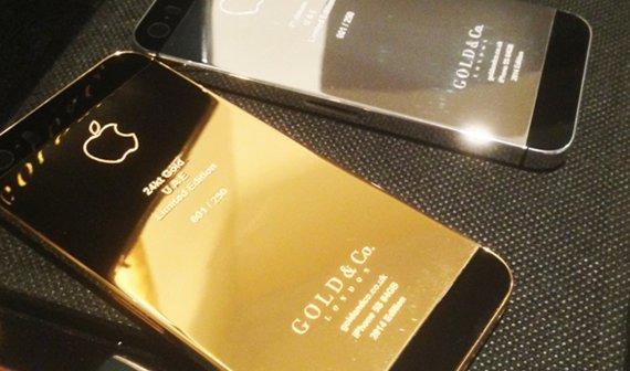 Geld zu viel? Wie wäre es mit einem iPhone 5s aus echtem Gold?