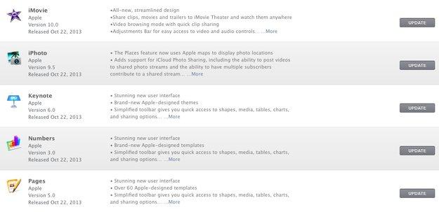 iWork und iLife: Manche Bestandskunden sehen kostenlose Mac-Updates nicht
