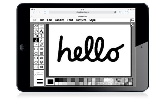 MacPaint für iPhone, iPad und OS X (Kaules Bettmümpfeli*)