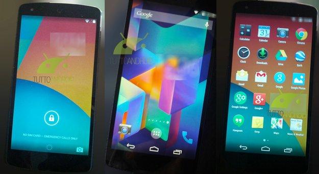 Android 4.4 KitKat auf Nexus 5: Weitere Fotos von Lock- und Homescreen sowie App Drawer aufgetaucht