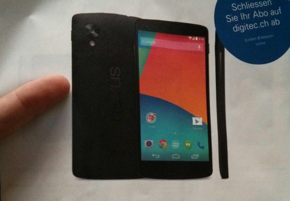 Nexus 5: Ab 31.10. in der Schweiz vorbestellbar – Vorstellung morgen Abend sehr wahrscheinlich