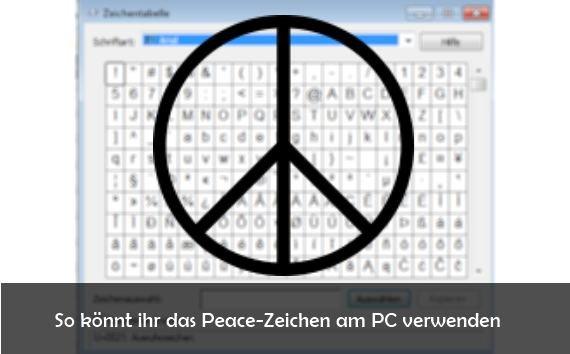 Peace-Zeichen am PC schreiben bei Facebook und Co. und seine Bedeutung