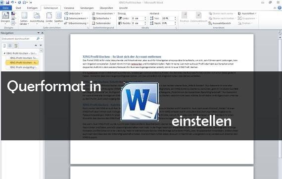 Word Querformat Einstellen Und Drucken So Gehts Giga