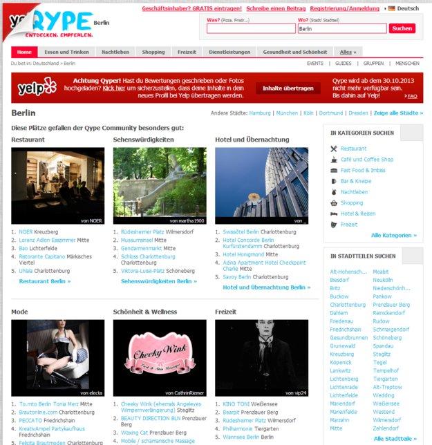 Empfehlungsplattform Qype macht dicht!