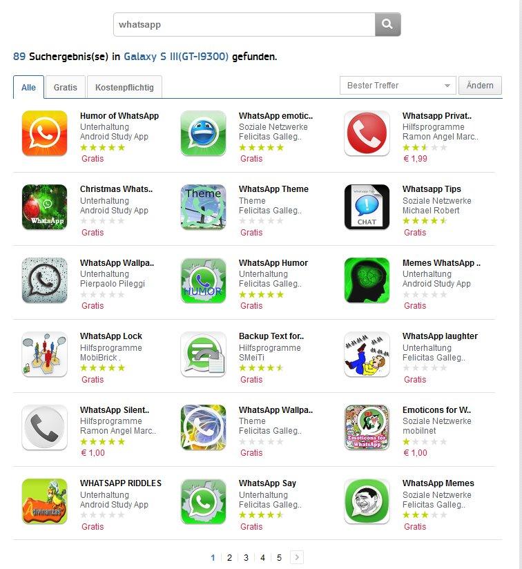 samsung apps whatsapp suche