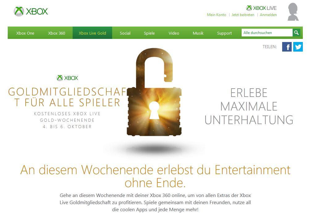 Xbox Live Gold Mitgliedschaft Kostenlos