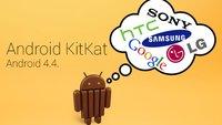 Android 4.4 Update-Plan: Wann bekommen welche Geräte das Update?