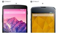 Nexus 5 im optischen Vergleich mit dem Nexus 4 und anderen Smartphones