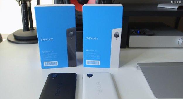 Nexus 5: Weißes und schwarzes Modell unterscheiden sich in mehr als nur der Farbe [Video]
