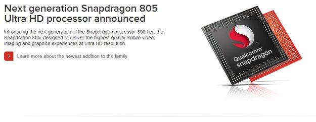 Qualcomm Snapdragon 805: High End-SoC mit 2,5 GHz, Adreno 420-GPU für Top-Geräte 2014 offiziell vorgestellt