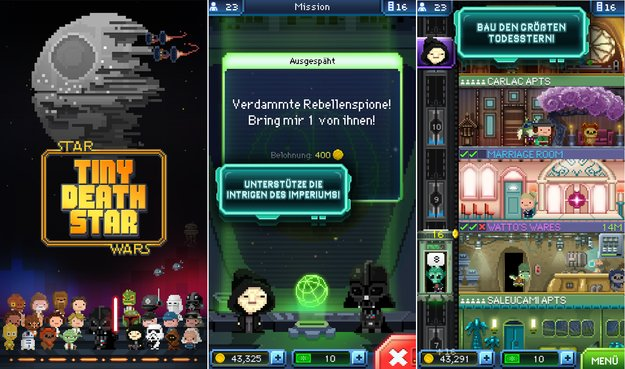 Star Wars - Tiny Death Star: Kostenlos in den Play Store geschwebt
