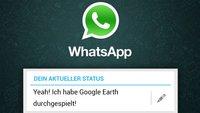 WhatsApp: Einträge für den Messenger
