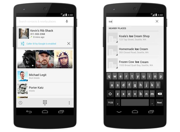 Android 4.4 KitKat: Telefon-App zeigt bald auch Namen unbekannter privater Anrufer an
