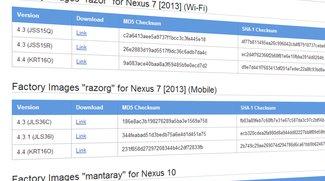 Android 4.4 KitKat: Factory Images für Nexus 4, Nexus 7 2012, Nexus 7 2013 &amp&#x3B; Nexus 10 zum Download bereit