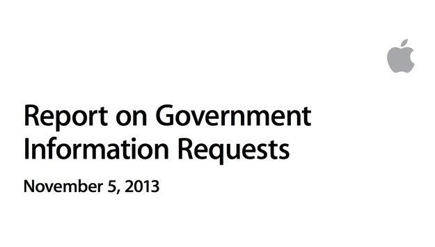 Apple veröffentlicht Bericht zu Informations-Anfragen durch Regierungen