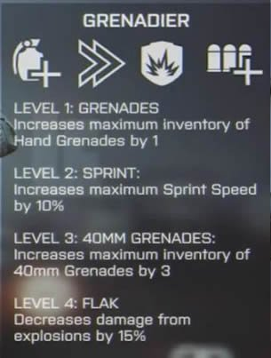 bf 4 perks field updates grenadier