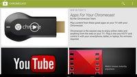 Chromecast: Apps für Googles HDMI-Dongle mit eigener Kategorie im Play Store
